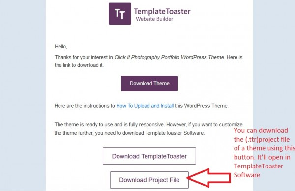 How to get TemplateToaster Project File