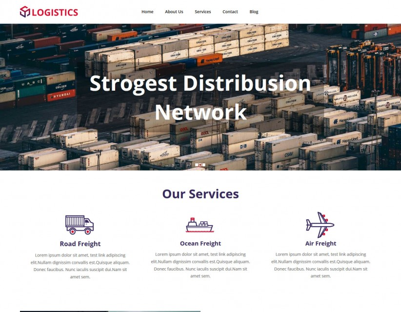 Logistics - Logistics Company WordPress Theme