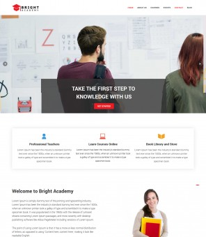 Bright Academy - Learning Academy WordPress Theme