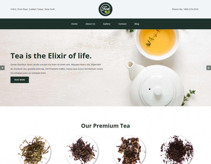 Tea and Coffee Company Responsive WordPress Theme