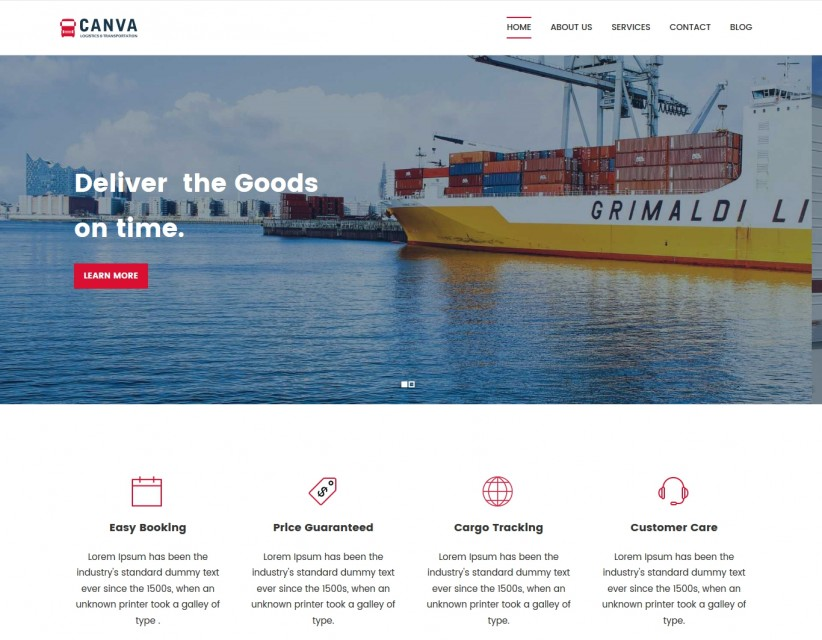 Canva Logistics - Transport & Logistic WordPress Theme