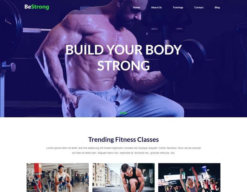 BeStrong - Gym Responsive WordPress Theme