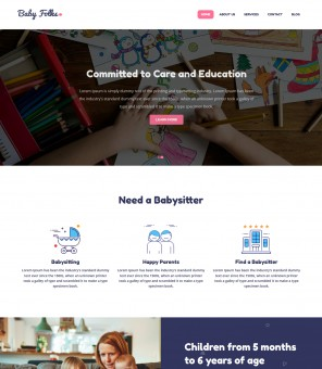 Baby Folks - Babysitter Responsive WordPress Theme