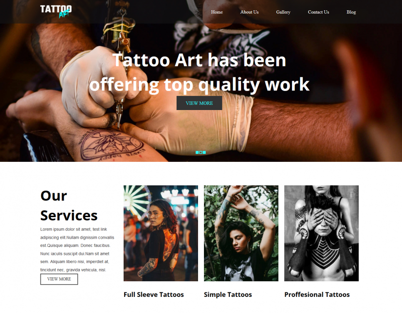 Tattoo Art - Tattoo Studio Responsive WordPress Theme