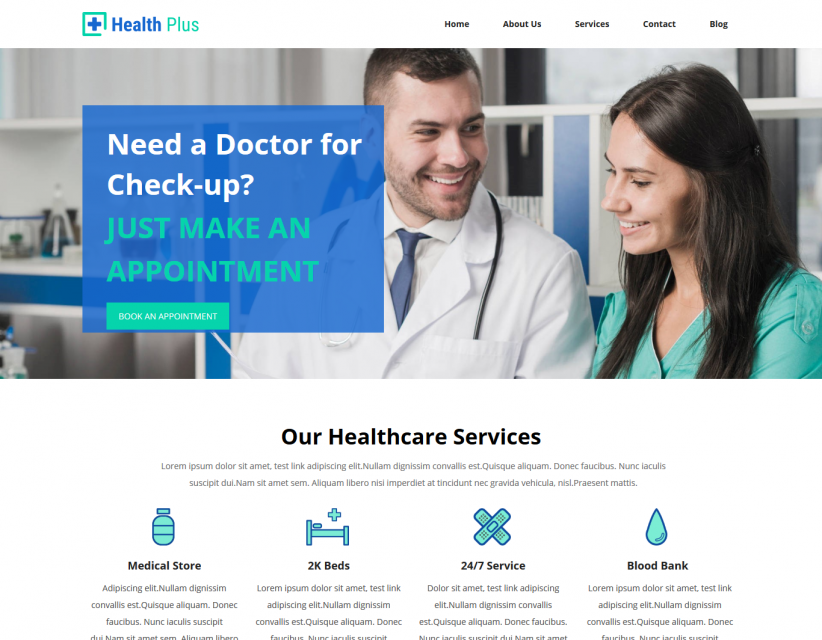 Health Clinic - Hospital and Clinic Responsive WordPress Theme