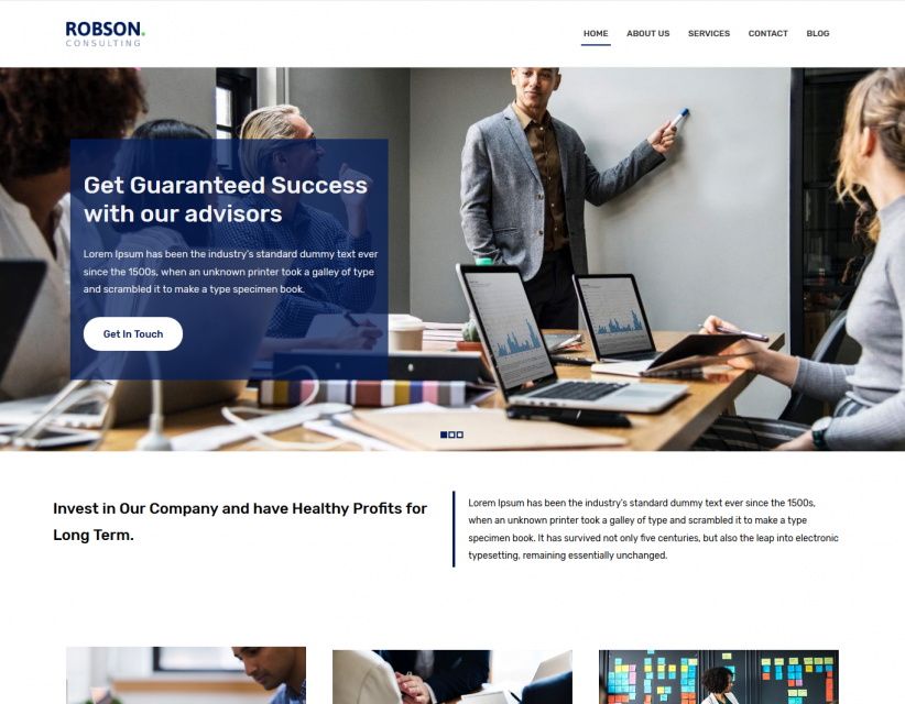 Robson Consulting - Business Consulting WordPress Theme