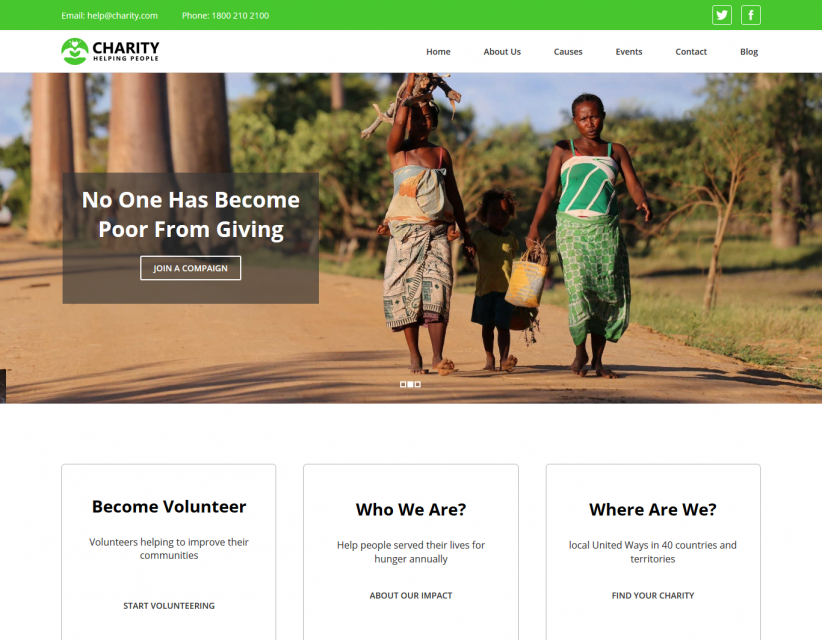 Charity - Charity and Fund Raising Responsive WordPress Theme