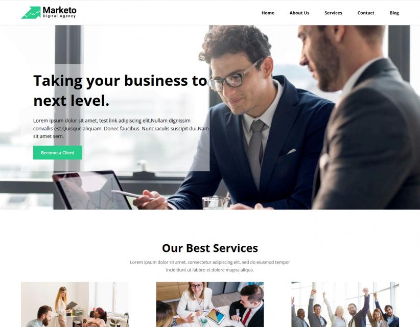 Marketo - Marketing Consultancy Services Responsive WordPress Theme