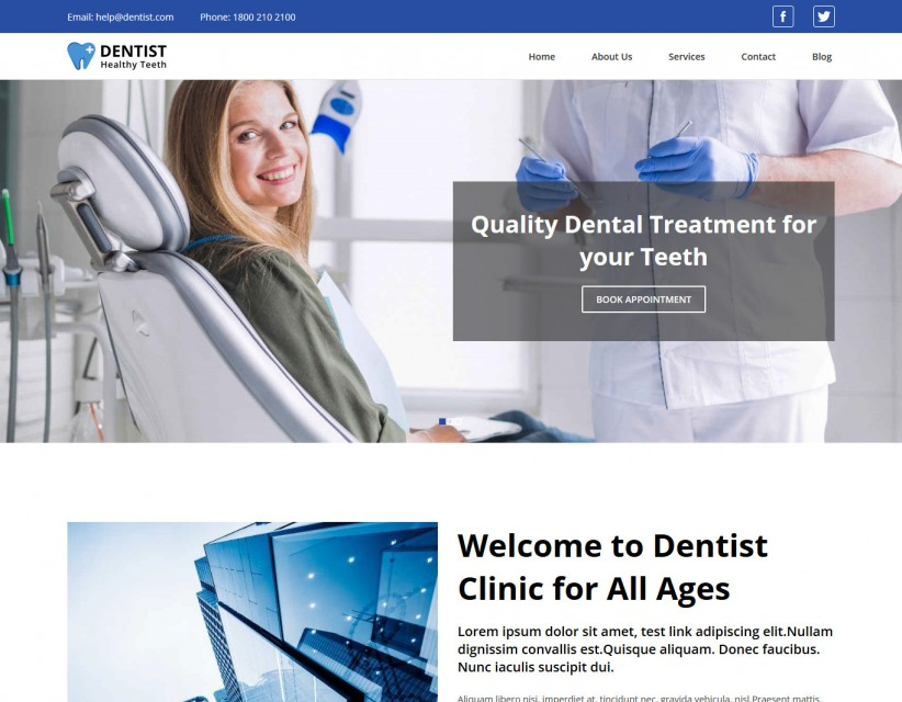 Dentist - Dentist and Doctor Responsive WordPress Theme