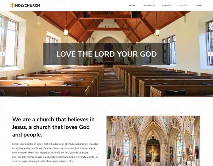 Holy Church - Church Responsive WordPress Theme