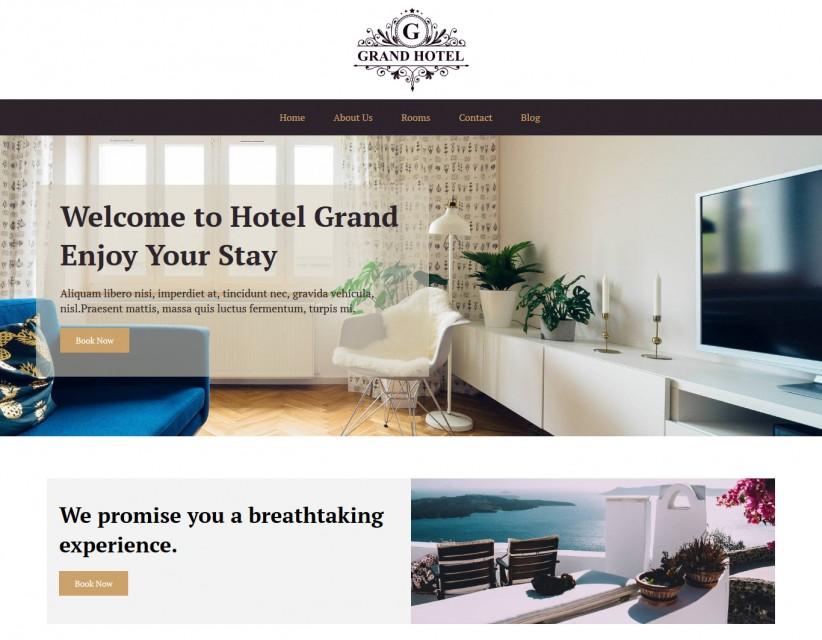 Grand Hotel Hotels And Resort Joomla Template