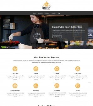 Bakery - Bakery Responsive Joomla Template