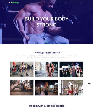 BeStrong - Gym Responsive Joomla Template