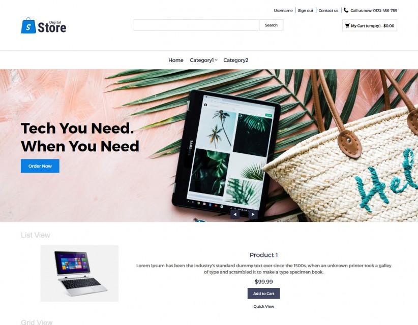 Digital Store - Digital Products PrestaShop Responsive Theme
