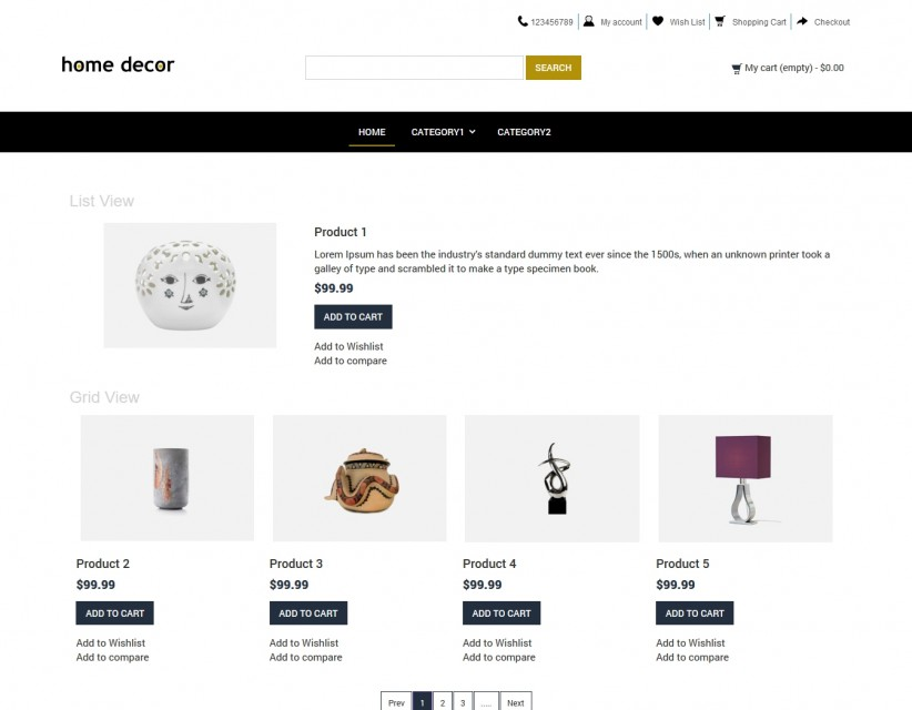 Home Decor Home Interior Products Opencart Responsive Theme