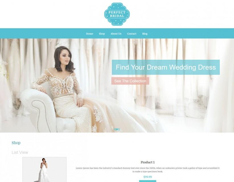 Perfect Bridal- Wedding Dresses Responsive WooCommerce Theme