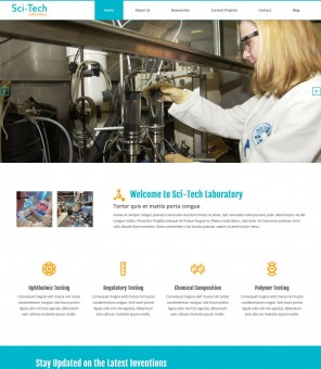 Sci-Tech Laboratory - Responsive WordPress Theme for Institutes/Labs
