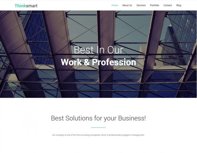 Thinksmart - Business WordPress Theme for Finance Agencies