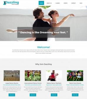 Dazzling Dance Academy - Creative WordPress Theme for Dance Academy