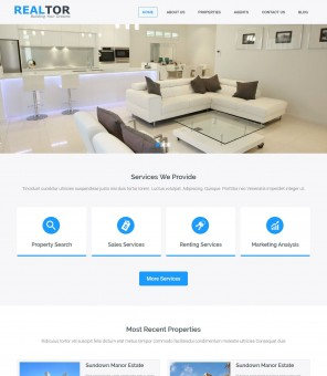Realtor - Real Estate Responsive WordPress Theme