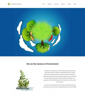 Environmental - Responsive Environment/Nature WordPress Theme