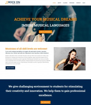 Rock On - Professional Music WordPress Theme