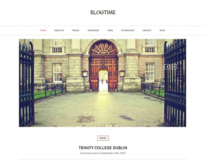 Blog Time - Creative Blog WordPress Theme