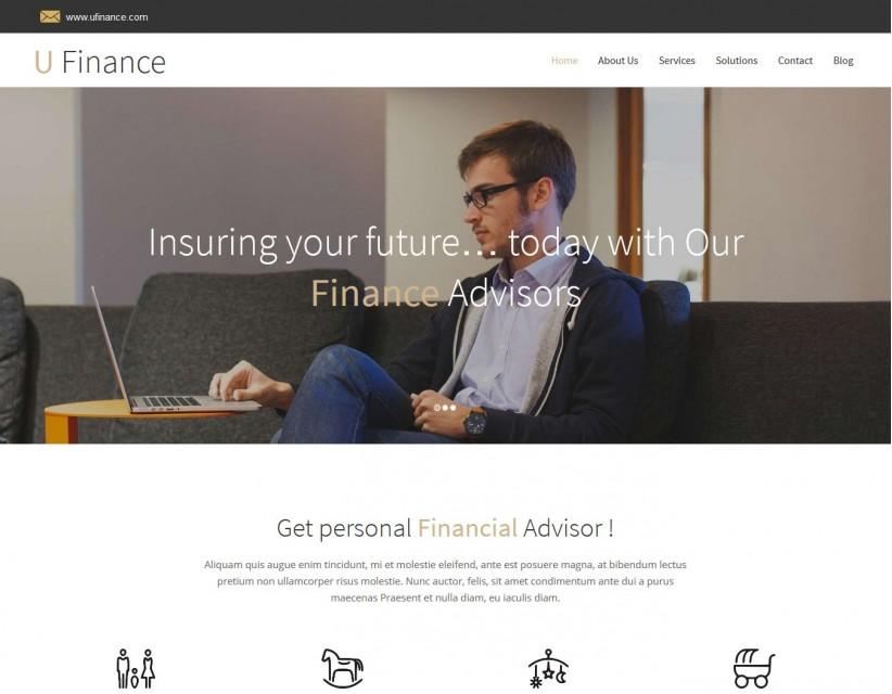 U Finance - Finance/Business Portfolio WordPress Theme