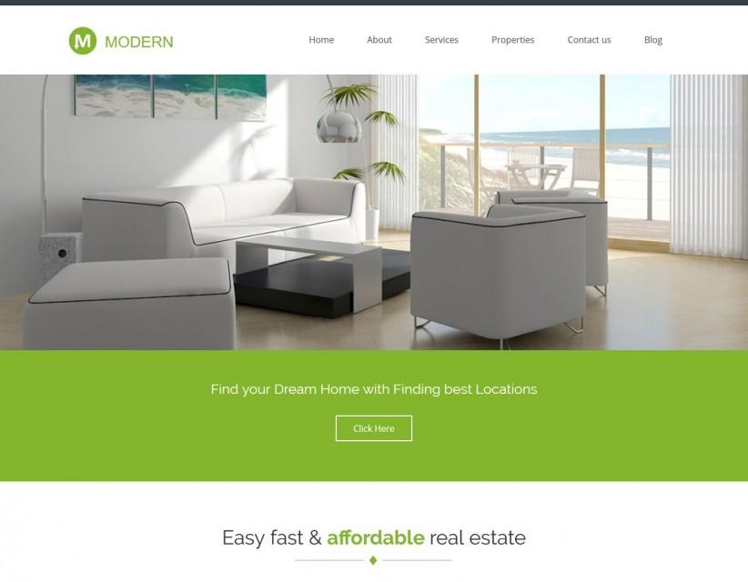 Modern - WordPress Theme for Real Estate/Interior Designs
