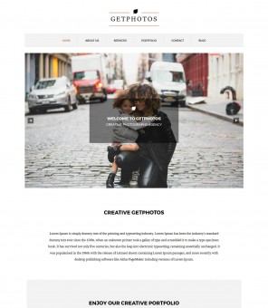 Get Photos - Creative/Stunning Photography WordPress Theme