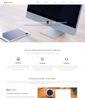 Blue Spot - Web Design/Studio WordPress Theme