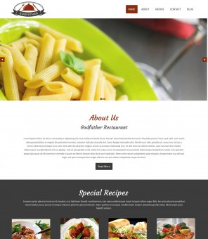 Godfather - WordPress Theme for Cafe/Restaurant