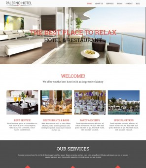 Hotel Palerno - WordPress Theme for Hotel/Restaurant