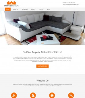 Modern Estate - Real Estate Business WordPress Theme