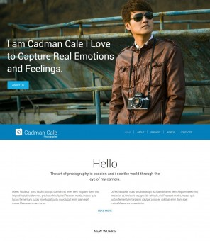 Cadman Cale - Responsive WordPress Theme for Personal Photography