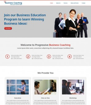 Business Coaching - Responsive WordPress Theme  for Business Coaching