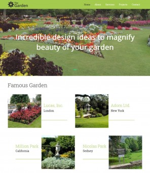 The Garden - Garden Services Business Joomla Template