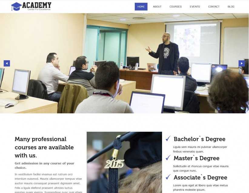 Academy - A Free WordPress Theme for Education/University