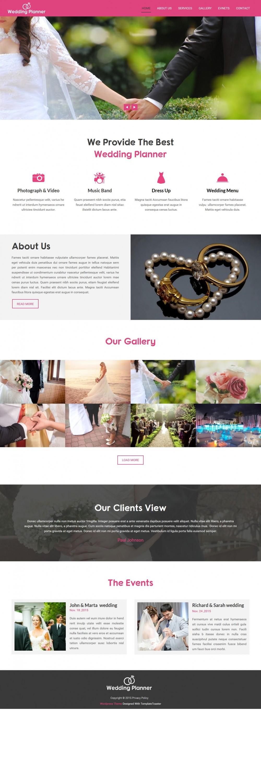 Wedding Planner - Wedding Planner and Wedding Organizer Wordpress Theme