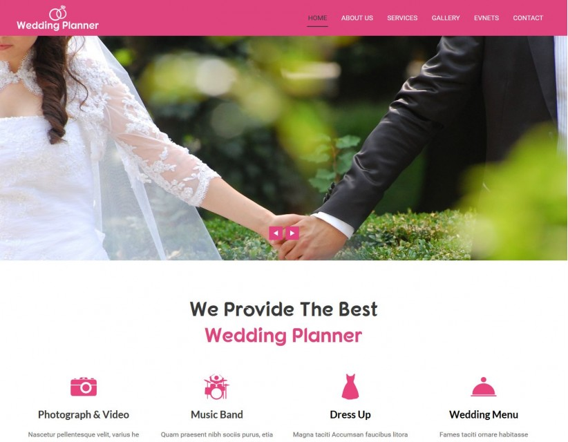 Wedding Planner Wedding Planner And Wedding Organizer Wordpress Theme
