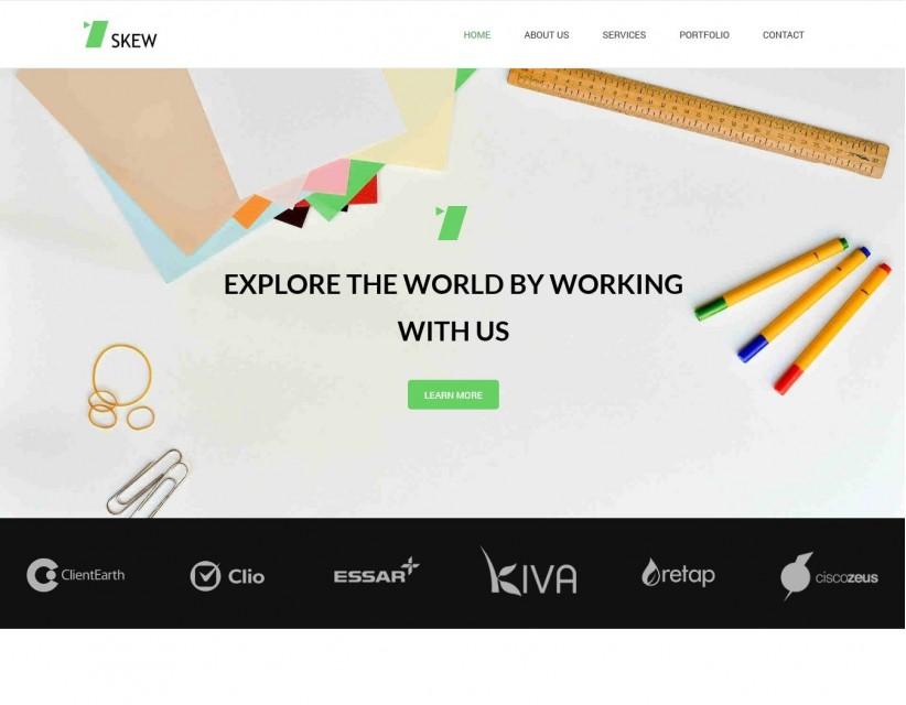 Skew - Creative WordPress Theme for Web-Design Agency