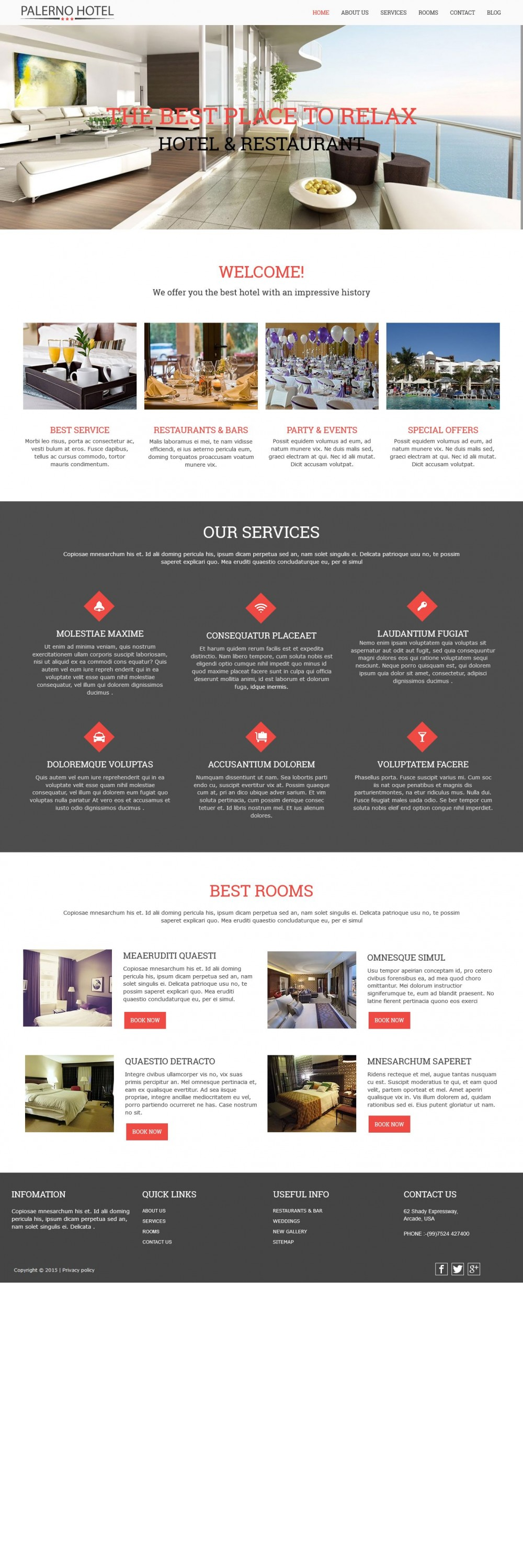 Hotel palerno joomla template for hotel business for Joomla hotel template