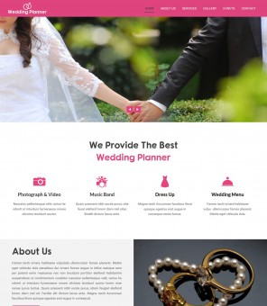 Wedding Planner - Professional Wedding Planner Joomla Template