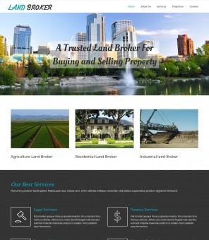 Land Broker - Real Estate Brokers Joomla Template