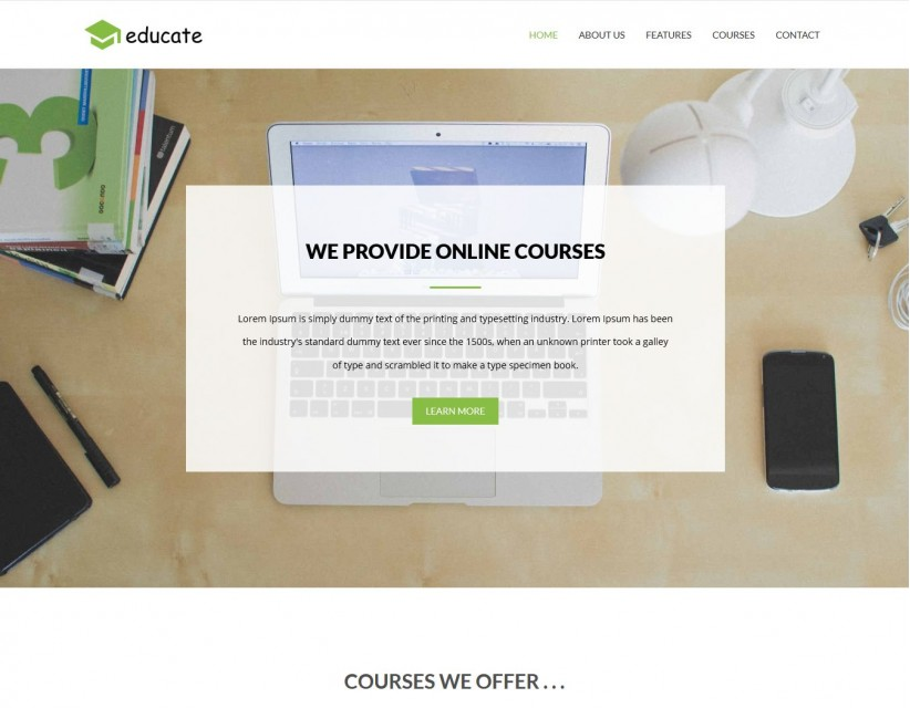 Educate - Learning Online Education Joomla Template