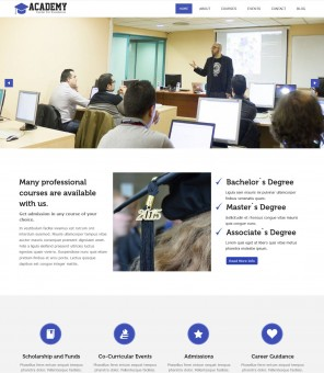 Academy - Education/University Joomla Template