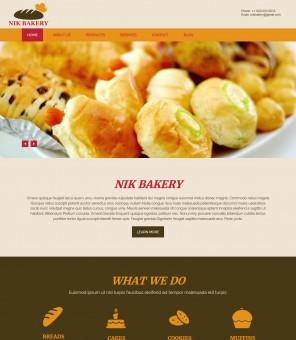 Nik Bakery - Cake/Bakery Joomla Template