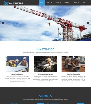 Constructive - Joomla Template for Construction Buildings