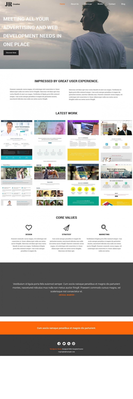 Jr Creation Joomla Template For Web Designer And Developer