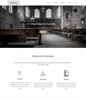 Churches - Charity Fund raising Beautiful Joomla Template